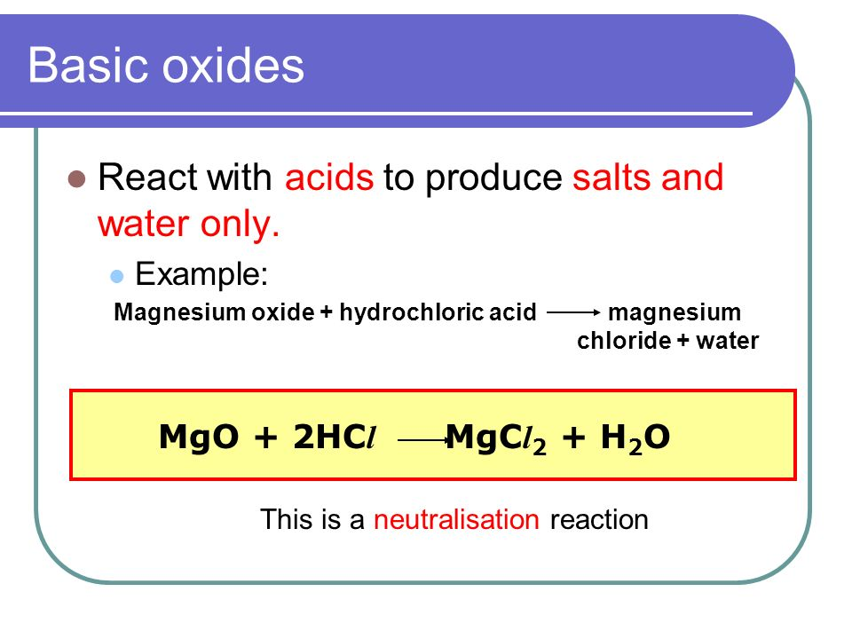 This is a neutralisation reaction