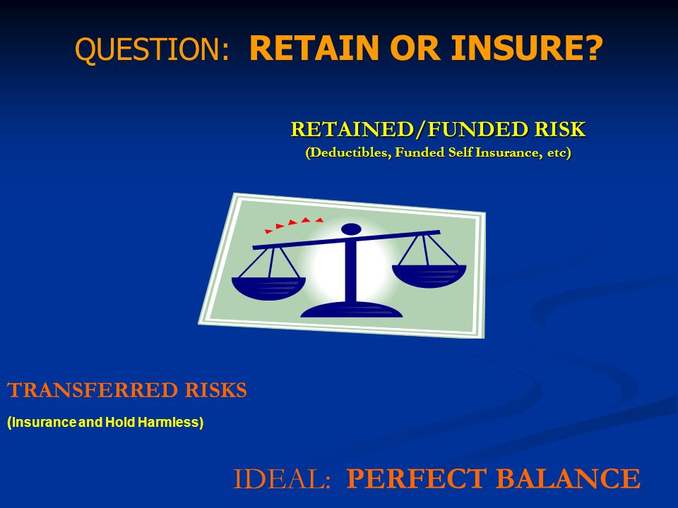 RETAINED/FUNDED RISK (Deductibles, Funded Self Insurance, etc)