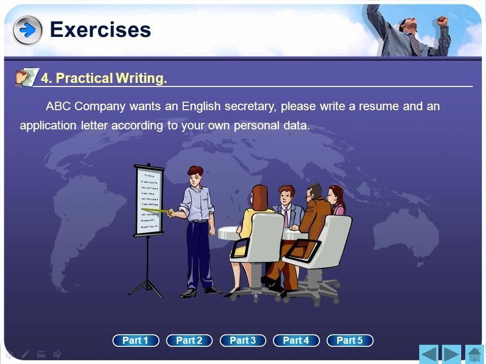 Exercises 4. Practical Writing.