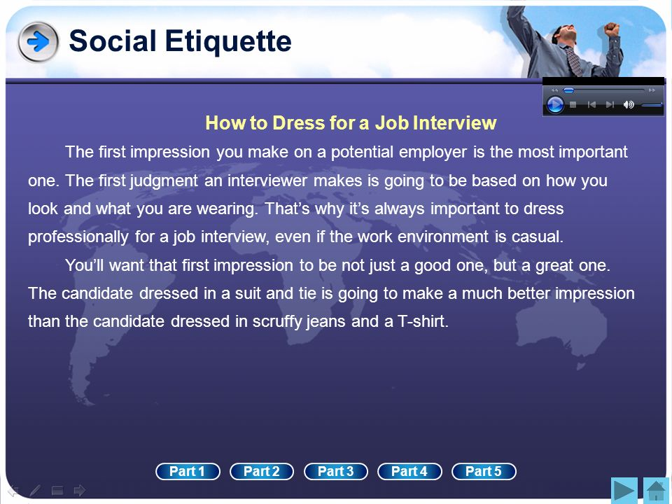 Social Etiquette How to Dress for a Job Interview