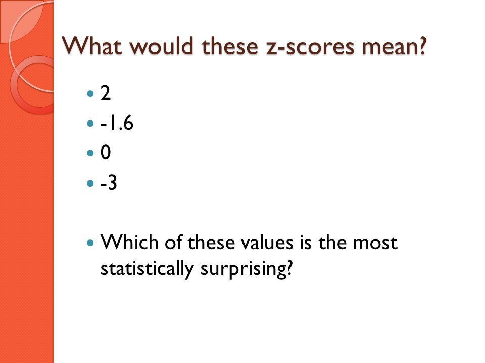 What would these z-scores mean