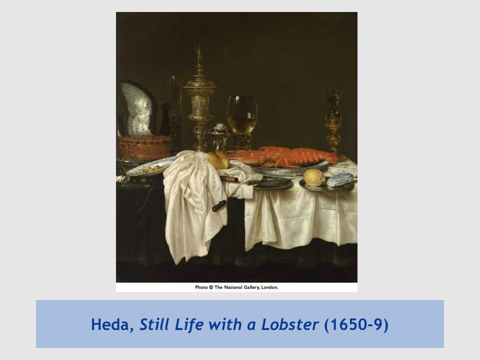 Heda, Still Life with a Lobster (1650-9)