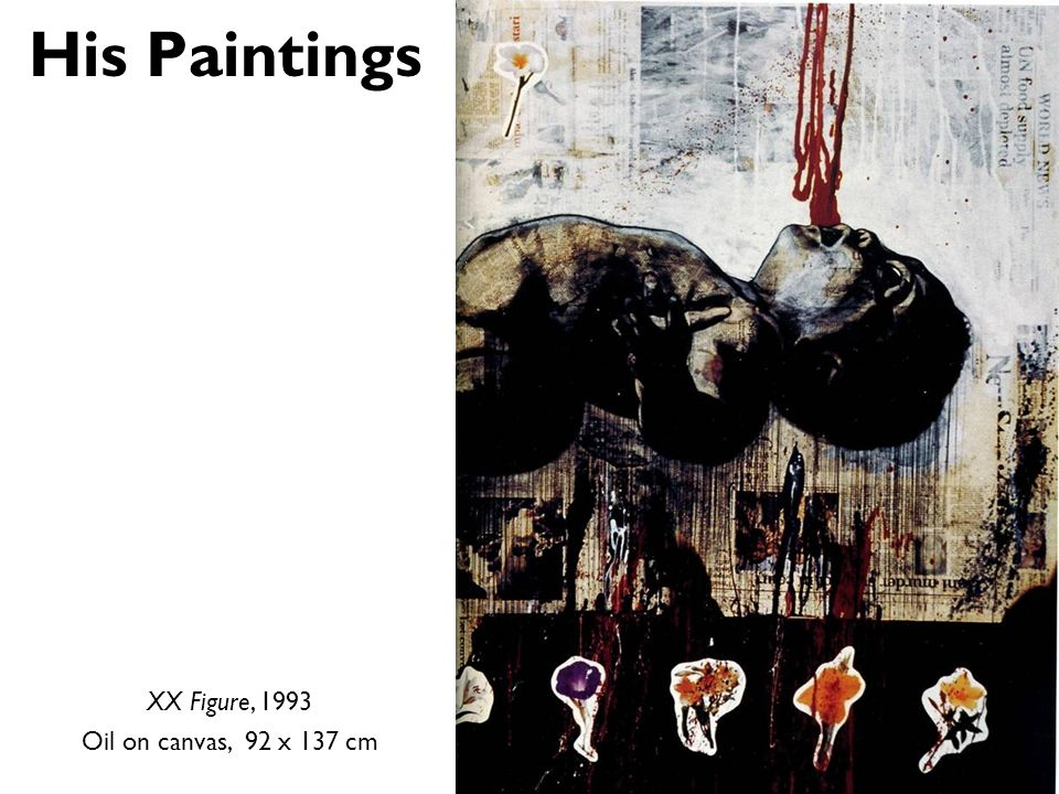 His Paintings XX Figure, 1993 Oil on canvas, 92 x 137 cm
