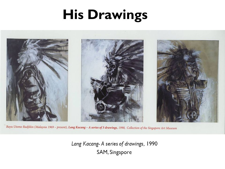 Lang Kacang- A series of drawings, 1990
