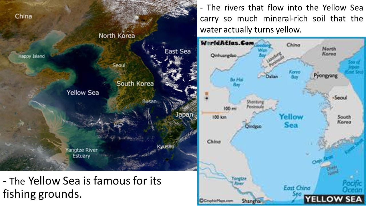Ss7g9 the student will locate selected features in southern and the yellow sea is famous for its fishing grounds gumiabroncs Choice Image