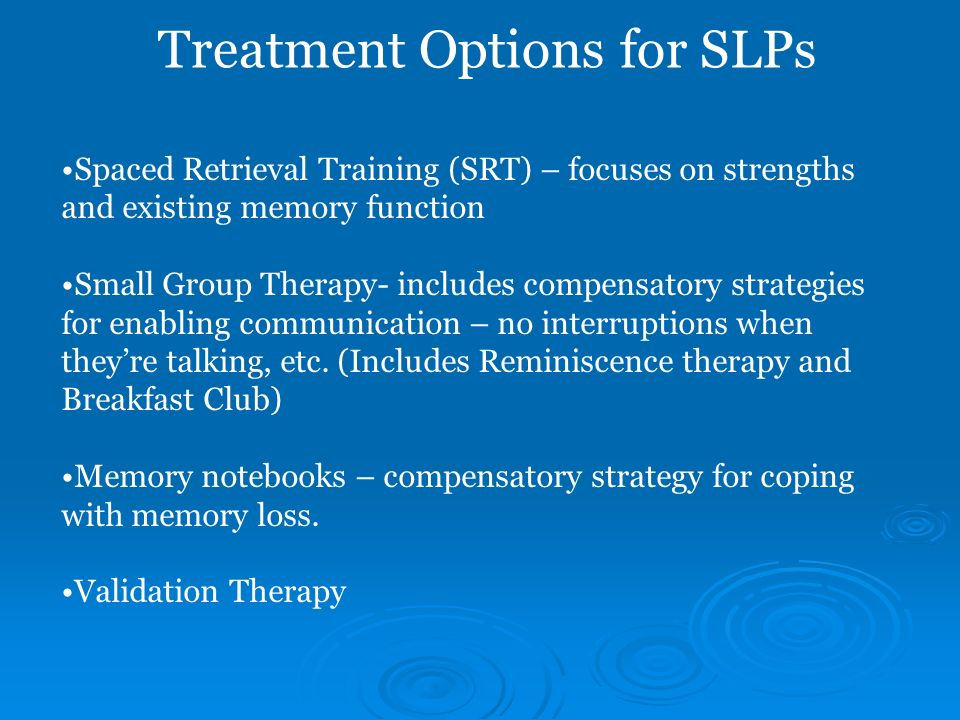 Treatment Options for SLPs