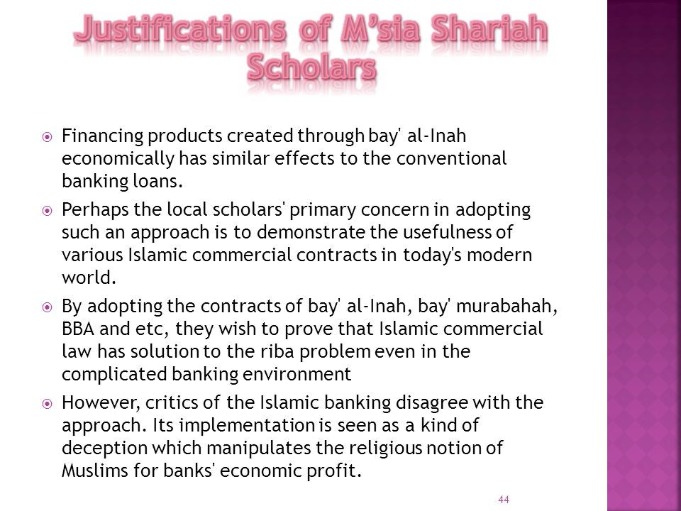 Justifications of M'sia Shariah Scholars