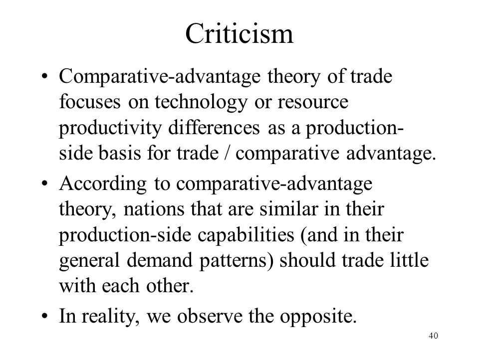 what is comparative cost theory