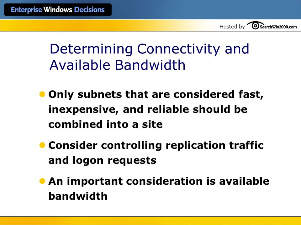 Determining Connectivity and Available Bandwidth