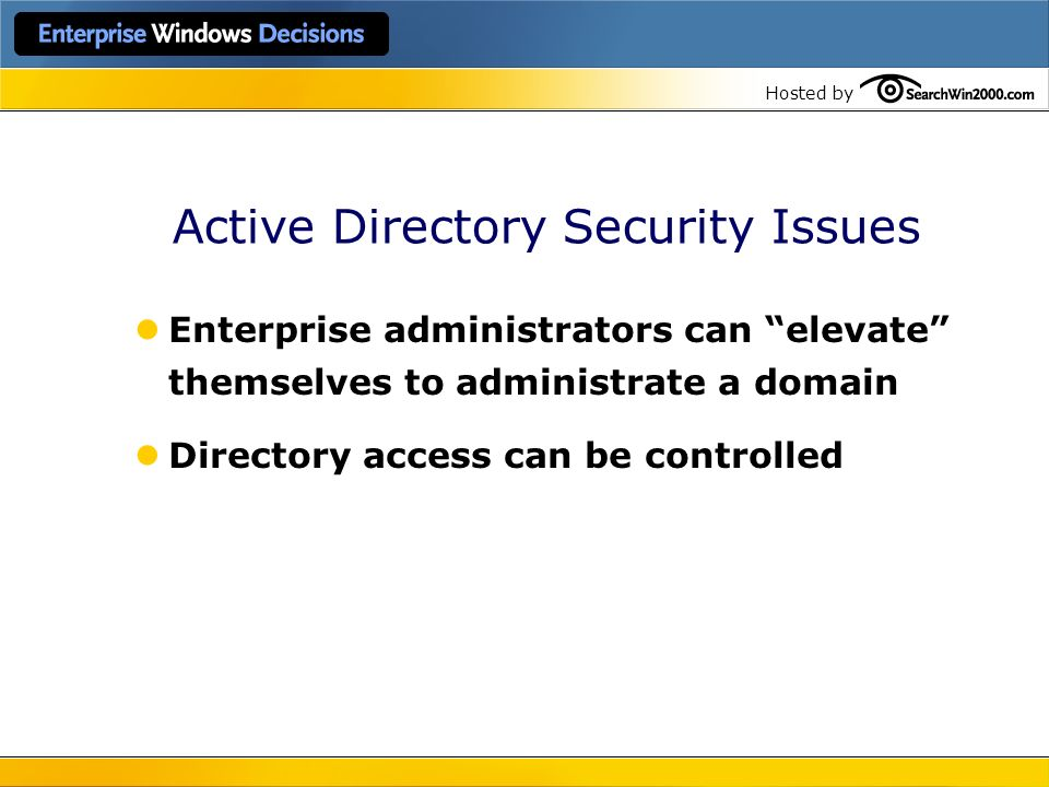 Active Directory Security Issues