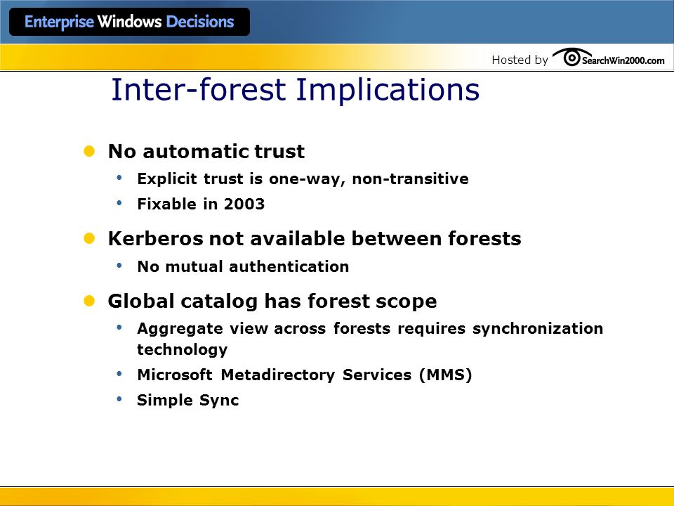 Inter-forest Implications