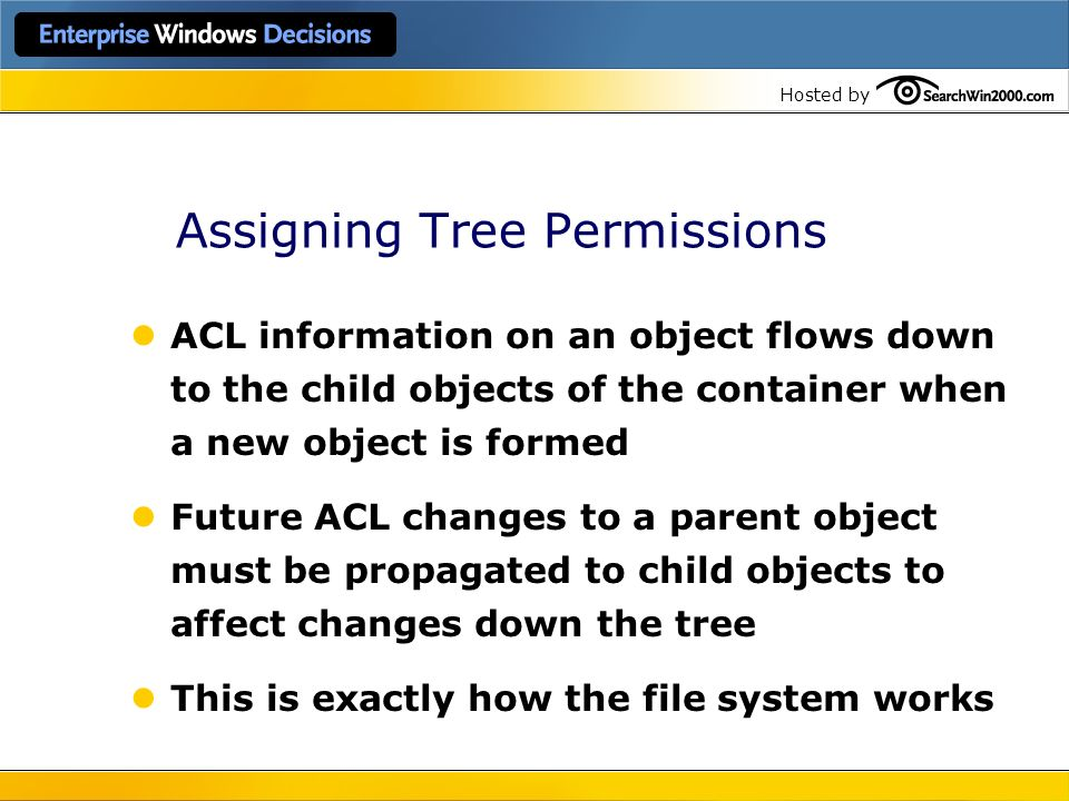 Assigning Tree Permissions
