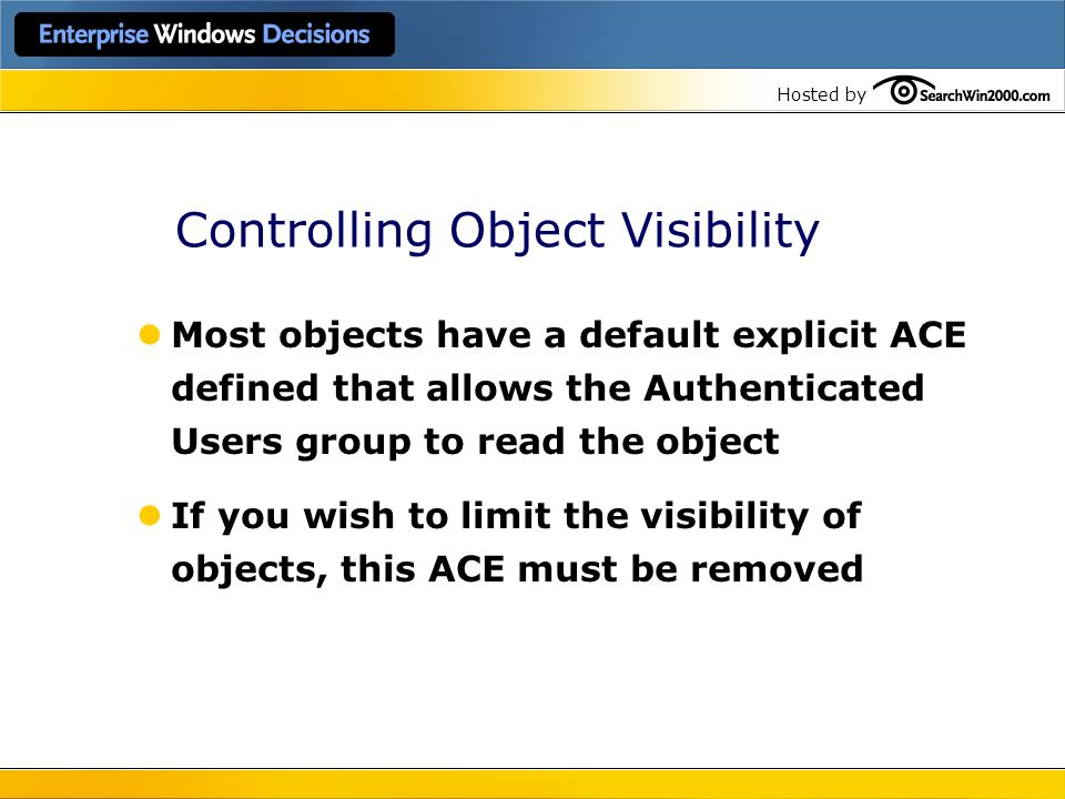 Controlling Object Visibility