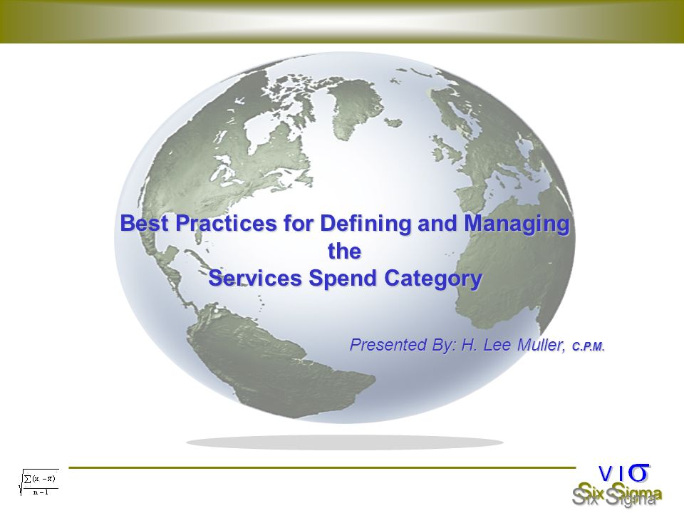 Best Practices for Defining and Managing Services Spend Category
