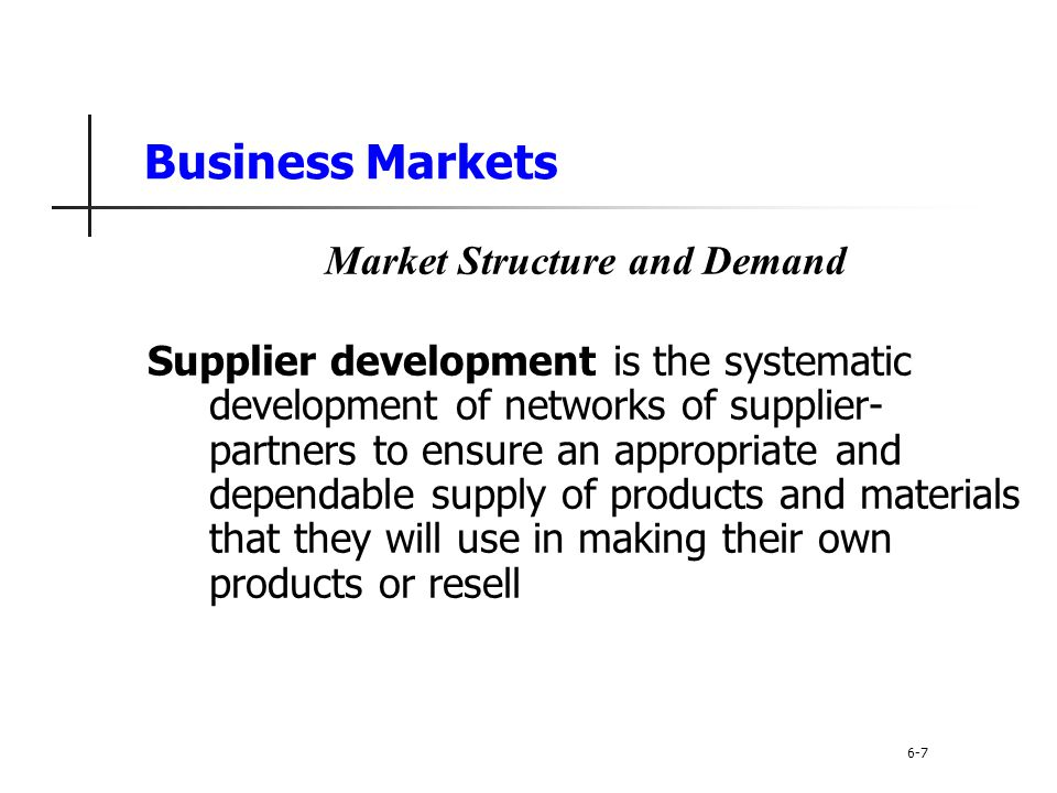 Market Structure and Demand
