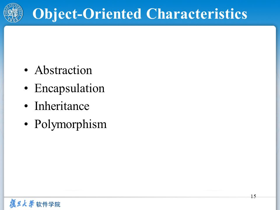 Object-Oriented Characteristics