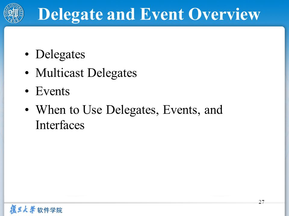 Delegate and Event Overview