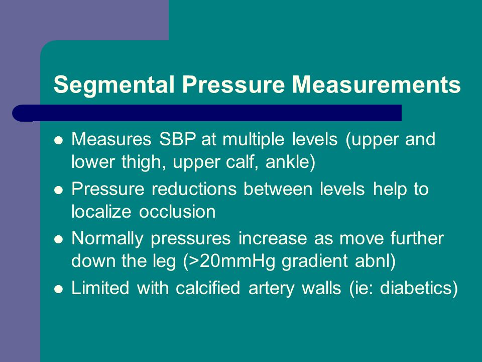 Segmental Pressure Measurements