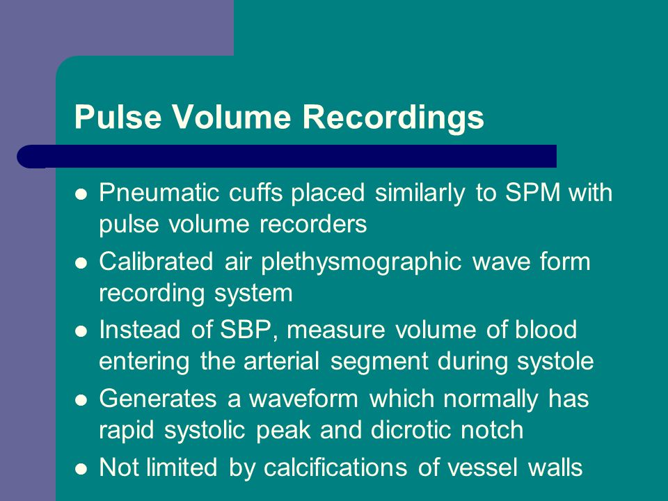 Pulse Volume Recordings