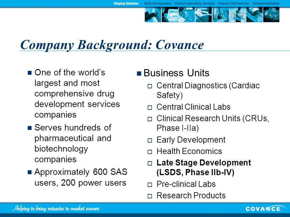 Company Background: Covance