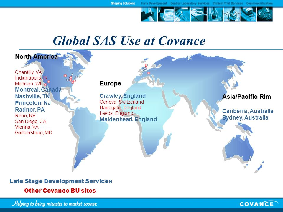 Global SAS Use at Covance