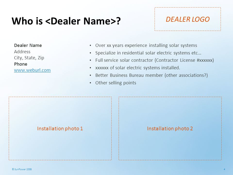 Who is <Dealer Name>