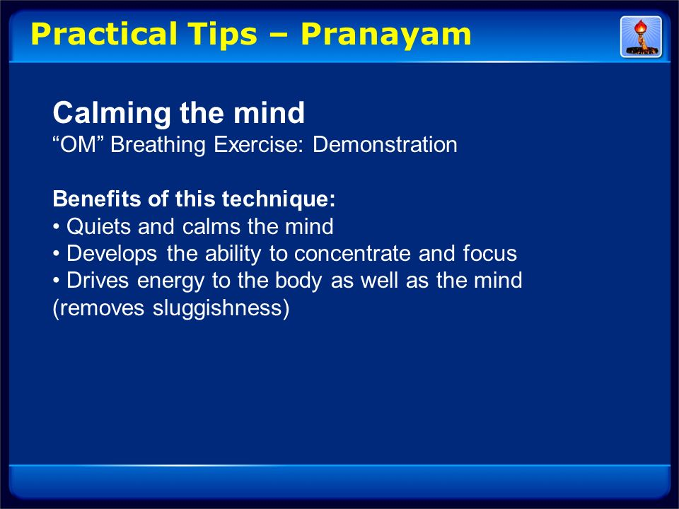Practical Tips – Pranayam