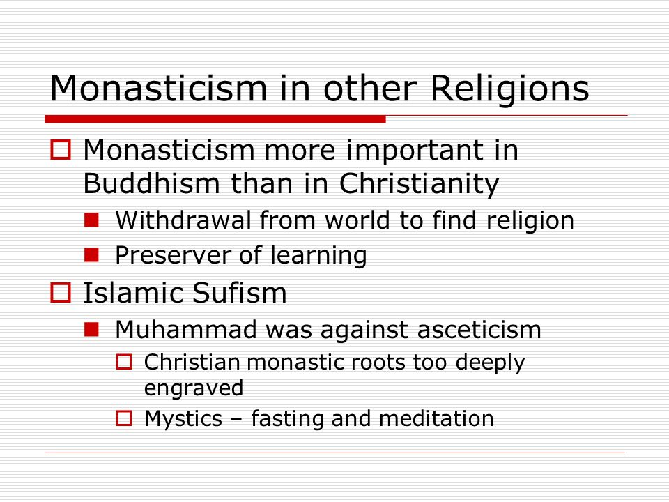 Monasticism in other Religions