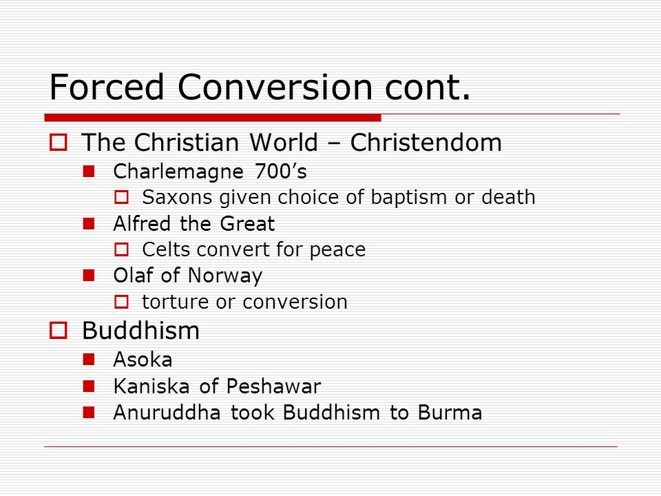 Forced Conversion cont.