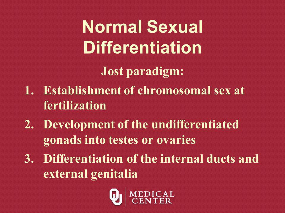 Normal sexual differentiation ppt