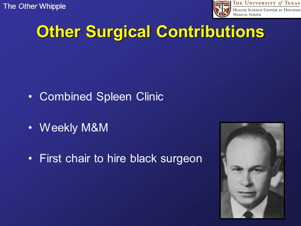 Other Surgical Contributions