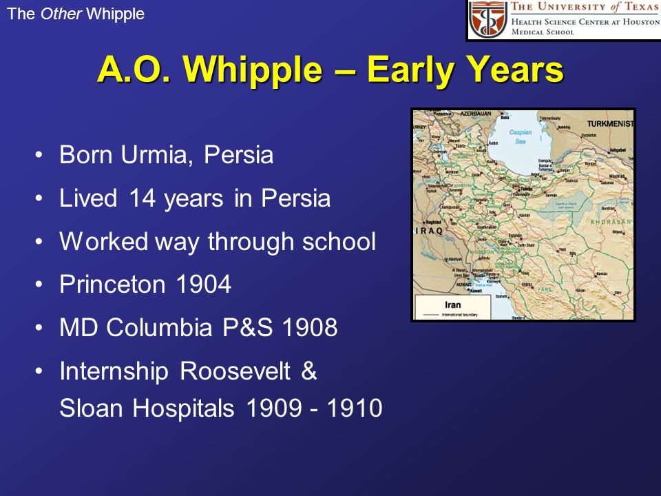 A.O. Whipple – Early Years
