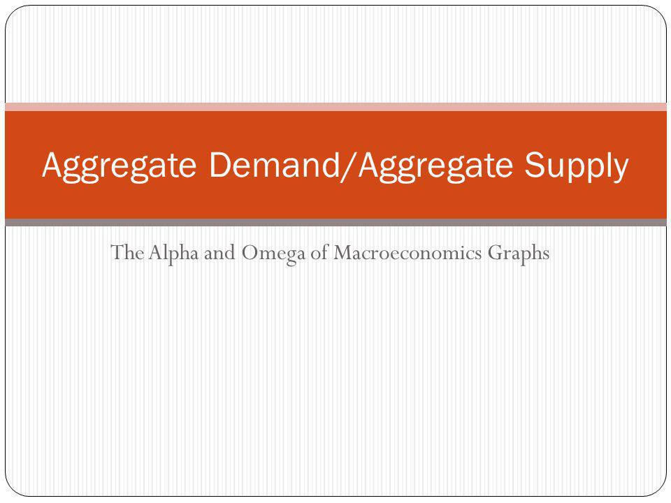 Aggregate Demand/Aggregate Supply