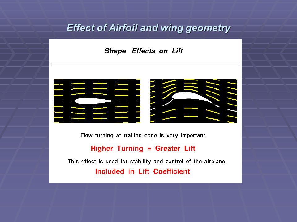 Effect of Airfoil and wing geometry