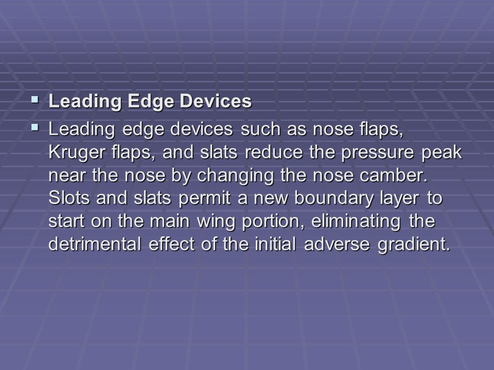 Leading Edge Devices