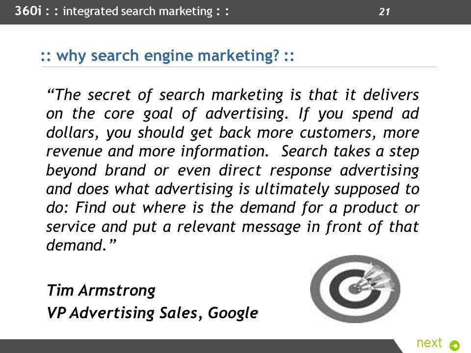 :: why search engine marketing ::