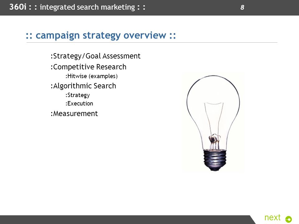 :: campaign strategy overview ::