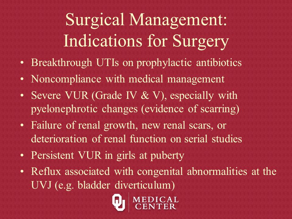 Surgical Management: Indications for Surgery