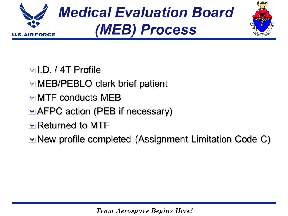 Medical Evaluation Board (MEB) Process