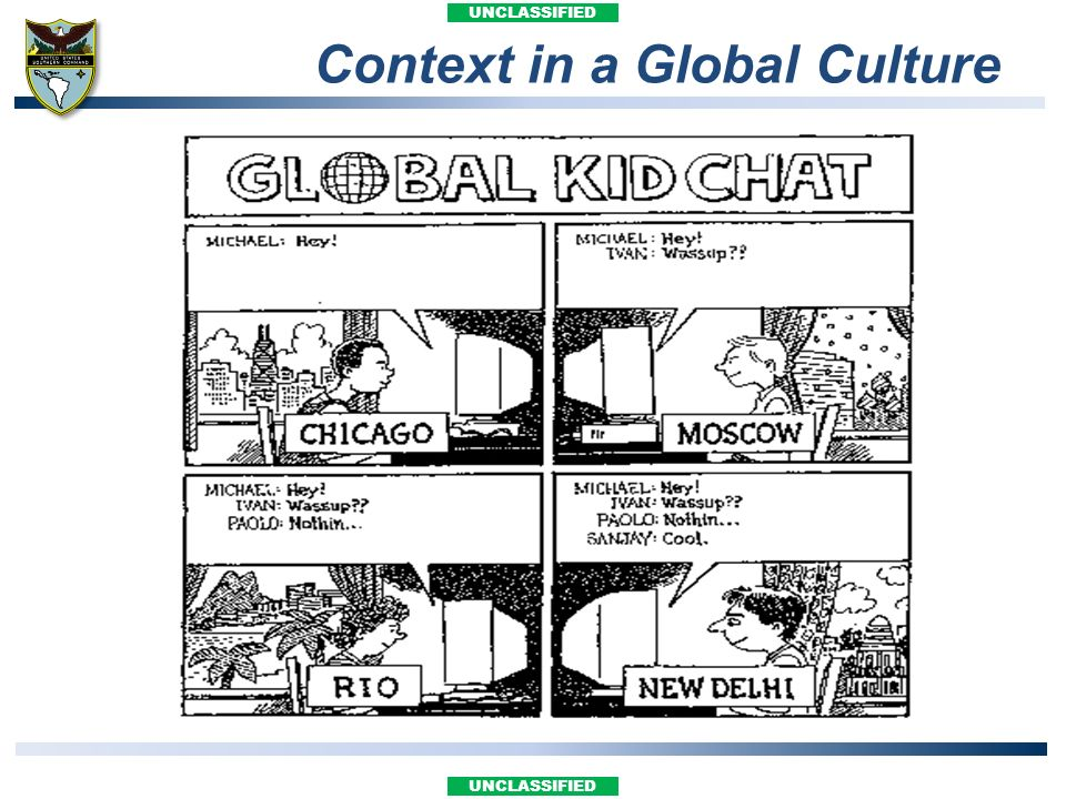 Context in a Global Culture
