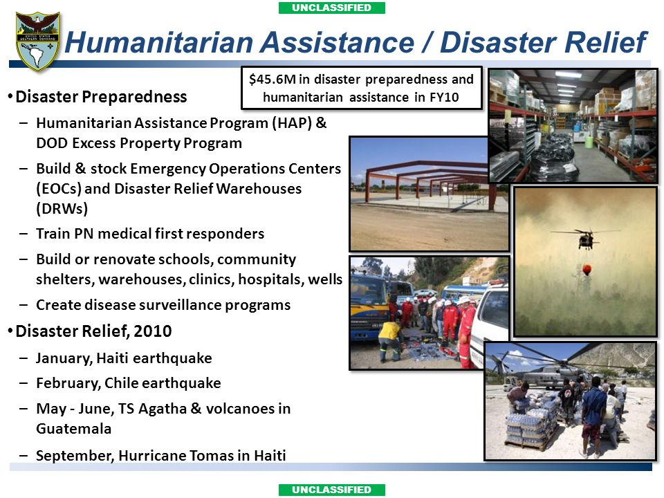 Humanitarian Assistance / Disaster Relief