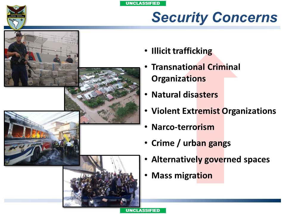 Security Concerns Illicit trafficking