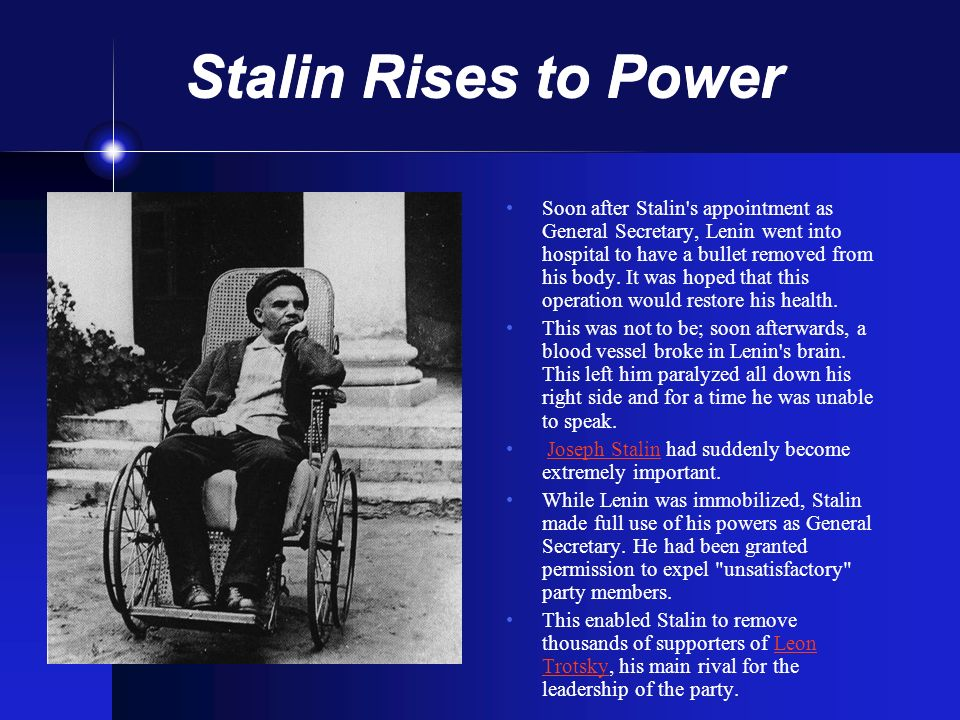 Stalin Rises to Power