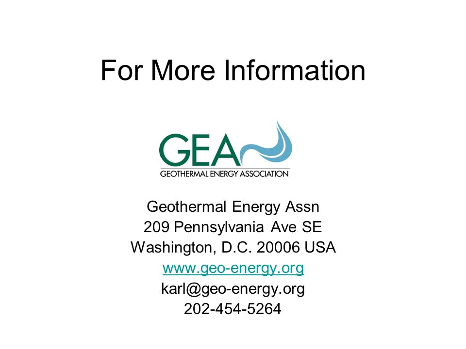 Geothermal Energy Assn