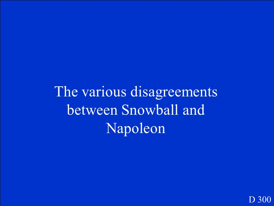 The various disagreements between Snowball and Napoleon