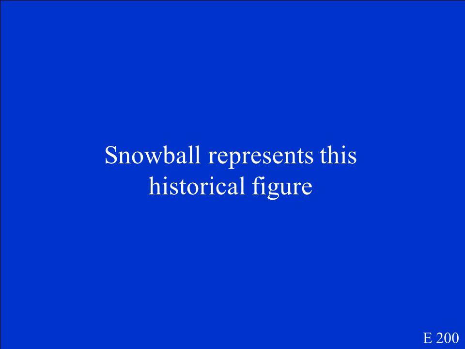 Snowball represents this historical figure