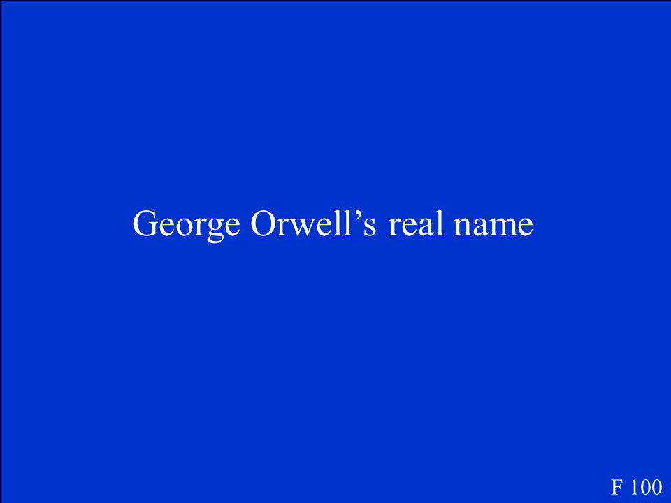 George Orwell's real name