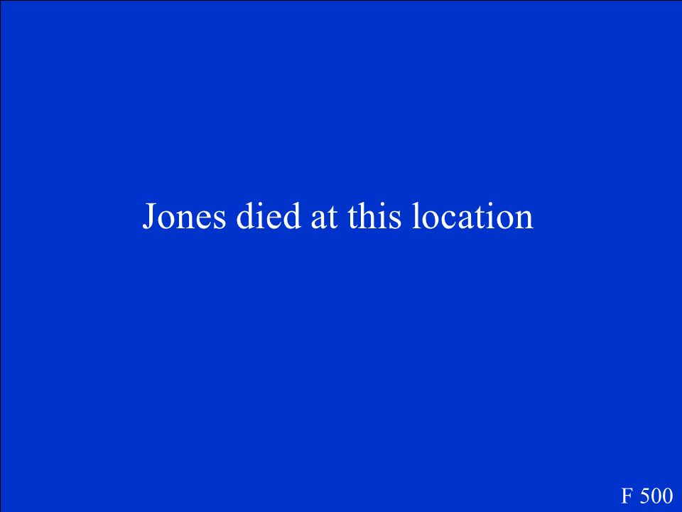 Jones died at this location