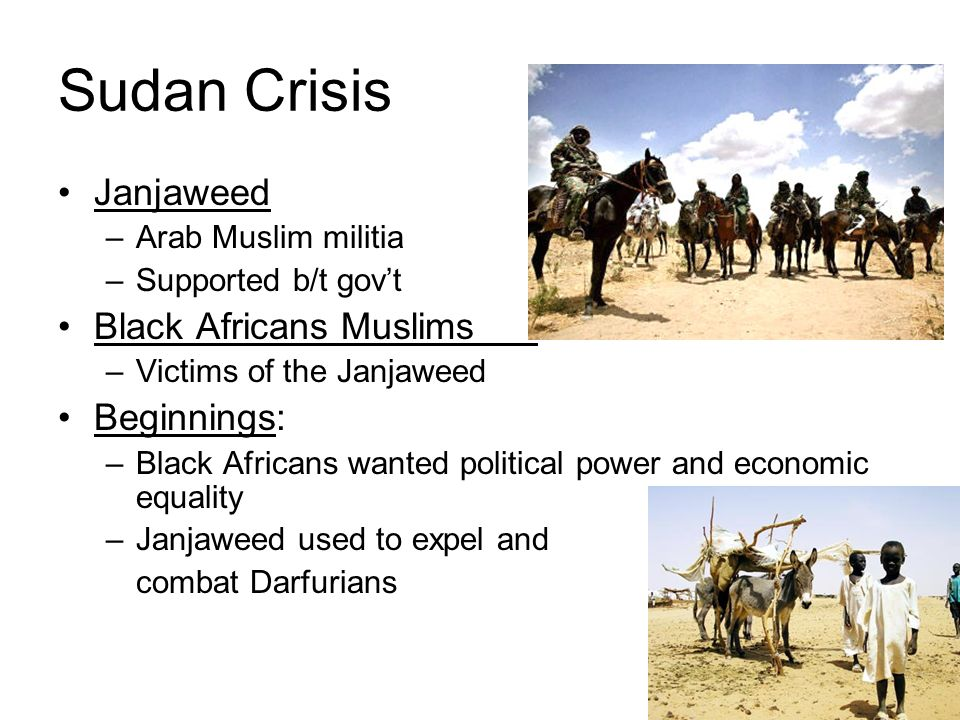 Sudan Crisis Janjaweed Black Africans Muslims Beginnings: