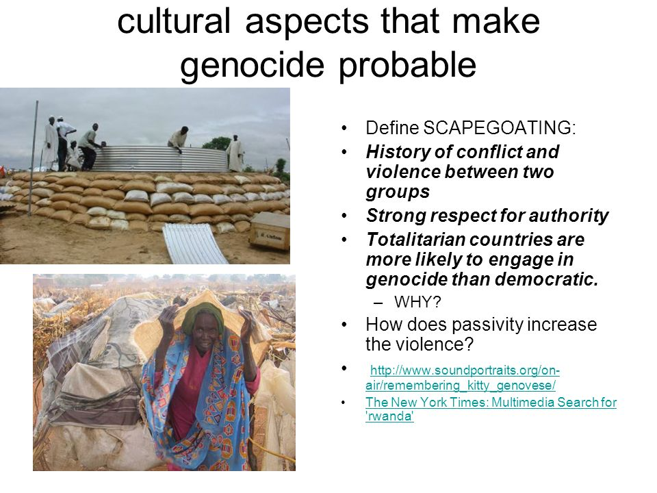 cultural aspects that make genocide probable